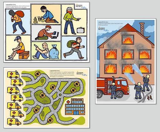 Logopedická výzva3 - motivační listy hasiči, záchranka a policie